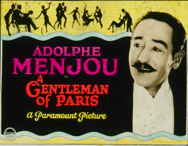 Glass_lantern_advertising_slide_for_1927_silent_film_A_Gentleman_of_Paris
